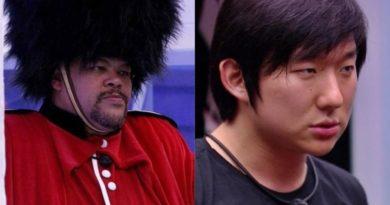 BBB20 - No monstro, o ator Babu massacra Pyong por ter perdido nascimento do primeiro filho