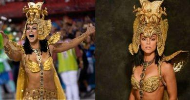 Paolla Oliveira surge vestida de Cleópatra de volta à Sapucaí e impressiona: 'perfeita'