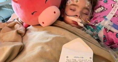 Menina de 4 anos ficou cega por causa da gripe mas um milagre aconteceu