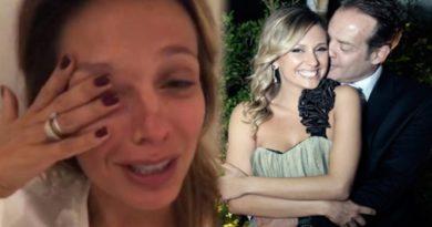 Luísa Mell chora ao falar de seu marido