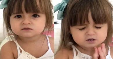 """Que coisa mais fofa! Viralizou um vídeo de uma menina pedindo a Deus para """"sumir com o corona"""""""