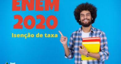 Veja como pedir isenção de taxa no Enem 2020