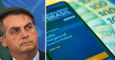 Bolsonaro promete que haverá uma 4ª parcela do auxílio emergencial, mas o valor é menor.