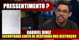 Gabriel Diniz, em carta psicografada, envia mensagem perturbadora aos seus pais: 'sofrimento'.