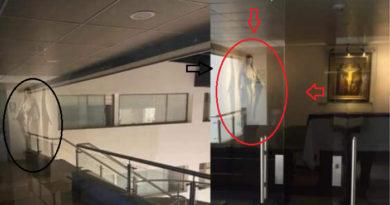 Suposta Virgem Maria surge em hospital de pacientes com coronavírus.