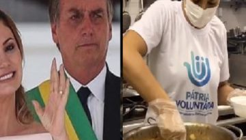 "Michelle Bolsonaro prepara marmitas para distribuir durante pandemia: ""Um exemplo"""