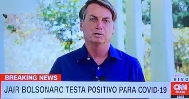 Após ter testado positivo para Covid-19, Bolsonaro conversa sem máscara e faz piadas!