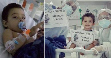 Este menino esteve entre a vida e a morte por causa do covi-19, mas recebeu um grande milagre em sua vida.