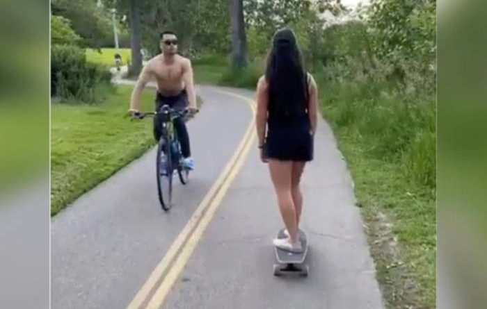 Vídeo Ciclista é preso por cuspir e ofender mulher asiática em parque nos EUA