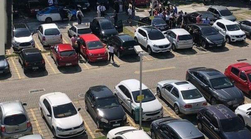Casal é encontrado morto em estacionamento de shopping