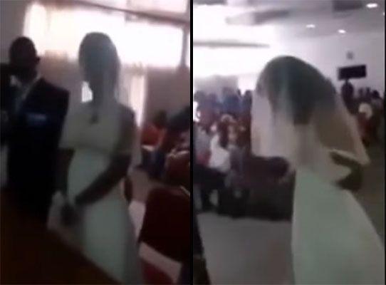 Vídeo: mulher surta e invade o casamento do amante vestida de noiva -  Brasil Acontece