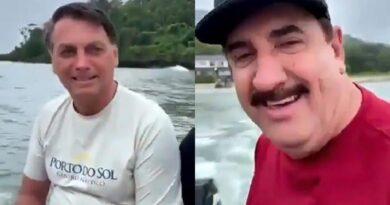 Vídeo: Ratinho e Bolsonaro ignoram pandemia e saem para pescar, provocando aglomeração