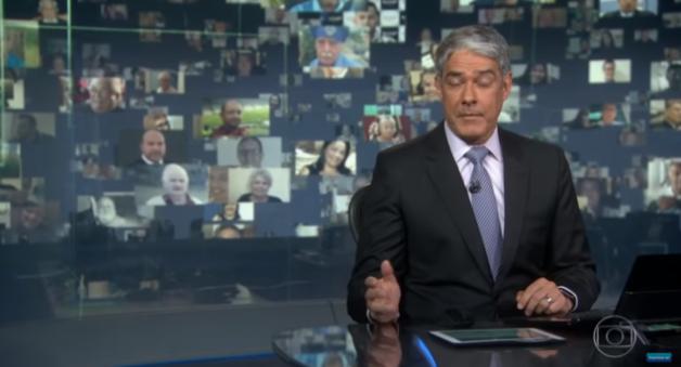 """William Bonner perde a compostura no JN, respira fundo e farsa é desmentida ao vivo na Globo: """"Até quando isso?"""""""
