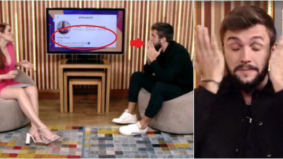 Reação de Arthur ao ver seu número de seguidores 'quebra internet' e viraliza; Assista ao vídeo.