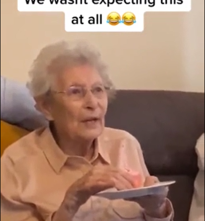 O desejo de uma idosa
