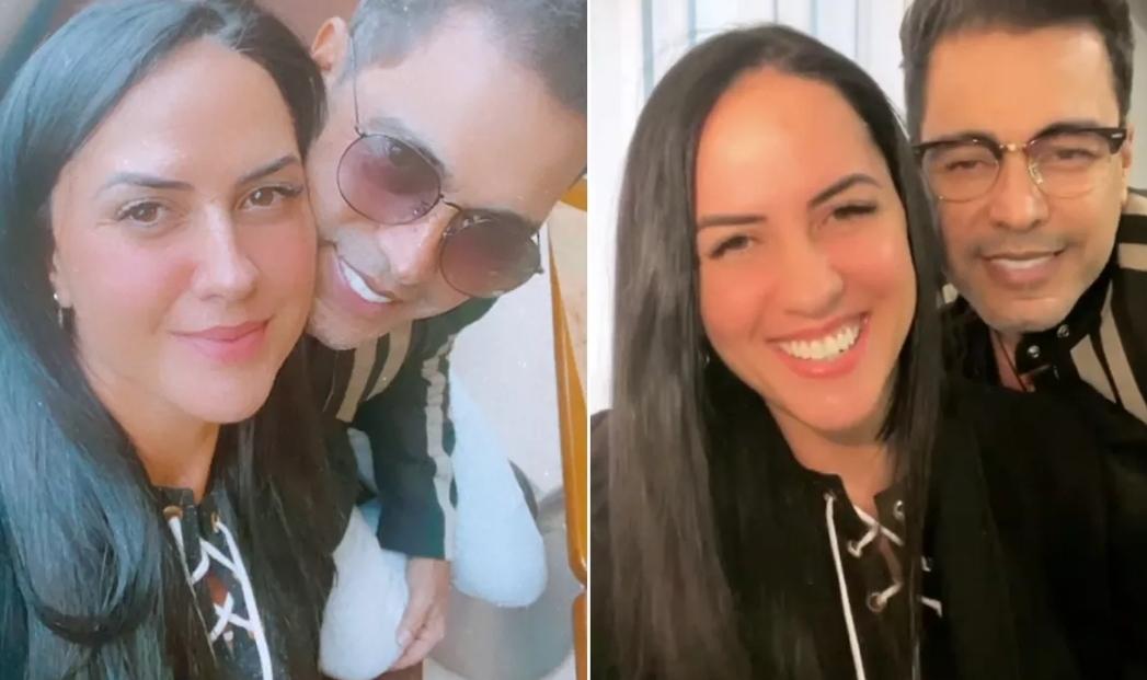"""Graciele Lacerda dá detalhes sobre internação de Zezé di Camargo: """"Preocupada"""""""