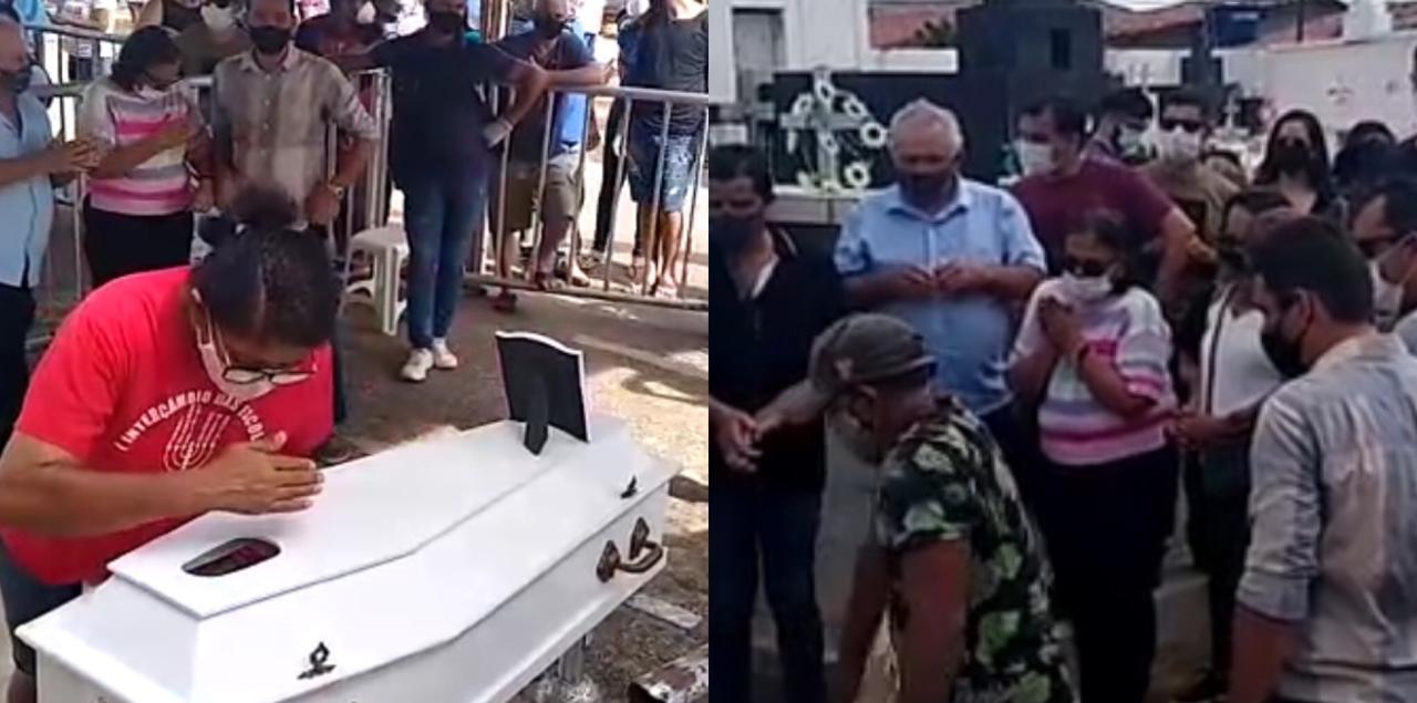 Tristeza: corpo do menino Gael é sepultado sob forte comoção na Paraíba; Veja o vídeo