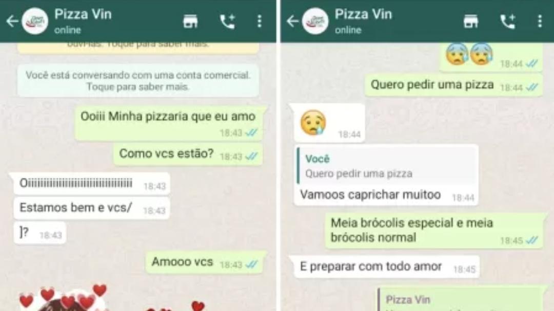 Homem se surpreende com pizzaria após morte da mãe por covid-19