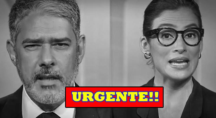 """Luto: Morte é confirmada no Jornal Nacional, e William e Renata entram as pressas e comunicam luto na globo """"Descansem em paz"""""""